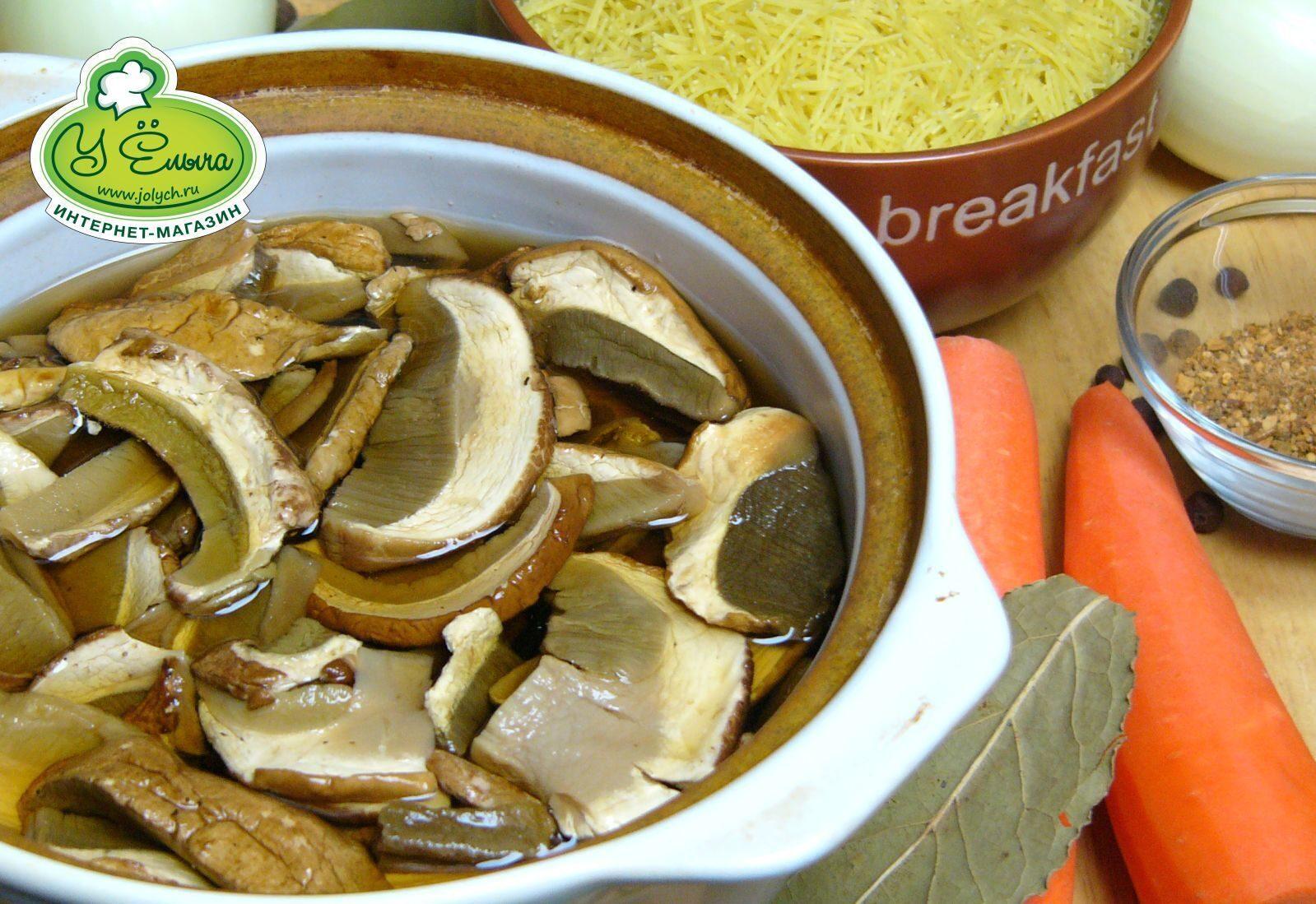 Грибной суп с вермишелью и картофелем рецепт с пошагово